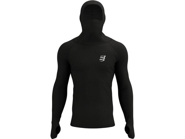 Compressport 3D Ultralight Racing Thermo Hoodie, czarny